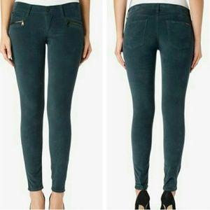 Hudson Spark Super Skinny Jeans Pants Moto Green